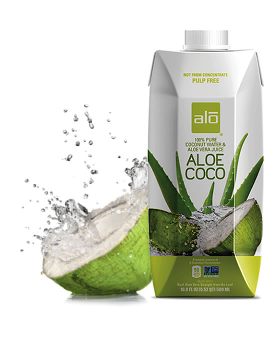 ALO Drink 100% pure coconut water with real aloe vera juice