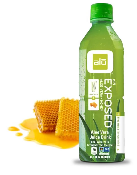 Real aloe vera juice sweetened with honey